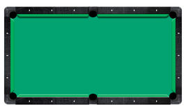 Billiard table, top view isolated white background. Path include. Stock Images