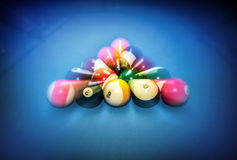 Billiard table vintage background Royalty Free Stock Photography
