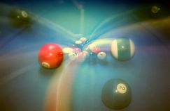 Billiard table vintage background Stock Photo
