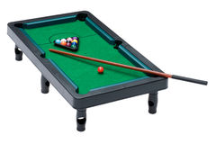 Billiard table on white Royalty Free Stock Image