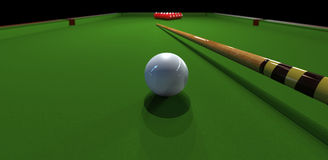 Billiard. Table, white and red balls Royalty Free Stock Image