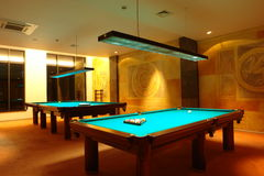 Billiard tables Stock Photography
