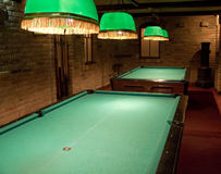 Billiard tables Royalty Free Stock Photo