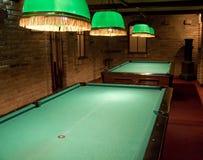 Billiard tables Royalty Free Stock Photo