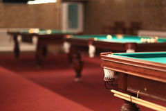 Billiard tables Royalty Free Stock Photography