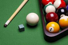 Billiard Time!. Billiard balls, cue and other! Sport time Royalty Free Stock Photo