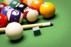 Billiard Time!. Billiard balls, cue and other! Sport time Stock Images