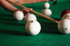 Billiard time royalty free stock photography