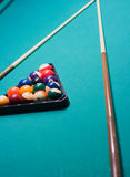 Billiard triangle Royalty Free Stock Image