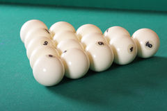 Billiard triangle Stock Photo