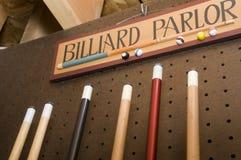 Billiard-Wohnzimmer-Zeichen stockbild