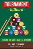 Billiardaffisch stock illustrationer