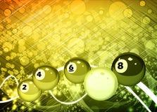 Billiardbakgrund Royaltyfri Bild