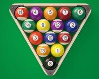 billiardbollar i en triangel royaltyfri illustrationer