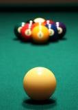 Billiarde: Zahnstange 9-Ball Lizenzfreie Stockbilder