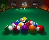 billiardklubbatabell Royaltyfri Bild