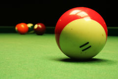 Billiardkugelabschluß oben. Lizenzfreie Stockfotografie