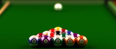Billiardkugeln. Lizenzfreie Stockfotografie