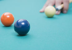 Billiardkugeln Stockfoto
