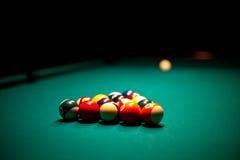 Billiardkugeln dieses betriebsbereite zum Bruch lizenzfreie stockfotos