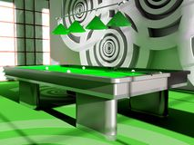 billiardlokal Arkivfoto