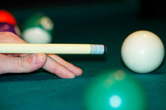 Billiardnahaufnahme Stockfotos