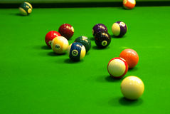 Billiards. Balls on the table Royalty Free Stock Photo