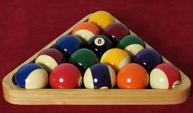 Billiards. Ready for the break Stock Images