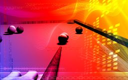 Billiards. Digital illustration of Royalty Free Stock Images