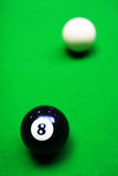 Billiards. Billiard balls on billiard table Stock Photography
