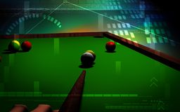 Billiards. Digital illustration of Royalty Free Stock Photography