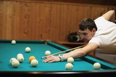 billiards awarii mężczyzna moment bawić się sfery Zdjęcia Royalty Free