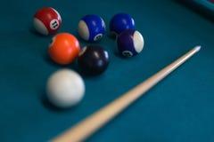 Billiards background stock photography