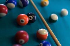 Billiards background stock photo