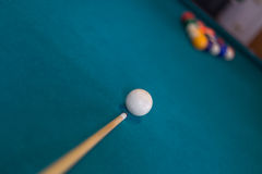 Billiards background. A billiards table colorful background Stock Photos
