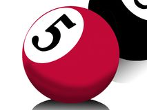Billiards ball. Ball from billiards number five Stock Images