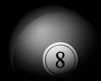 Billiards ball on black Stock Photos