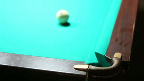 Billiards. The ball rolled into the pocket stock footage
