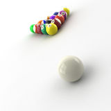 Billiards balls. 3d computer generated image of billiards balls isolated on white background Stock Photo