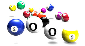 Billiards balls 2009 Royalty Free Stock Photo