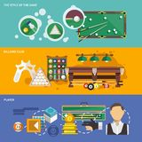 Billiards Banner Set Royalty Free Stock Images