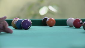 Billiards in a bar. A video of playing pool billiards in a bar stock video