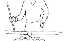 Billiards basenu gracza Mknącego rysunku 2D animacja zbiory