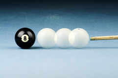 Billiards black and white Stock Photography