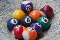 Billiards. Close up of billiards balls Stock Photography