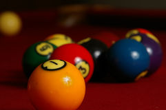Billiards Closeup Royalty Free Stock Images