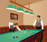 Billiards competition Royalty Free Stock Photos