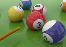 Billiards - 3D Royalty Free Stock Photo