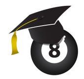 Billiards education concept. Illustration design over white Royalty Free Stock Image