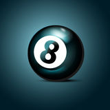 Billiards eight ball. Royalty Free Stock Images